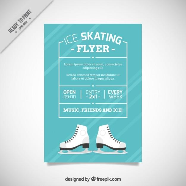 Ice skating brochure Free Vector