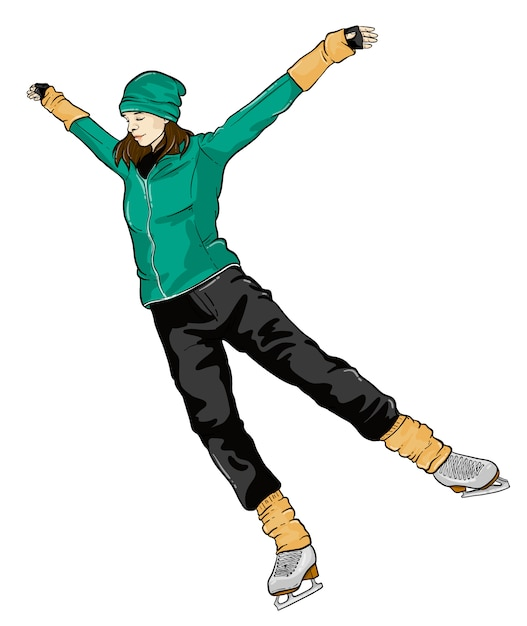 Ice skating Premium Vector