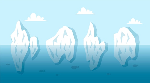 Iceberg collection illustration concept Free Vector