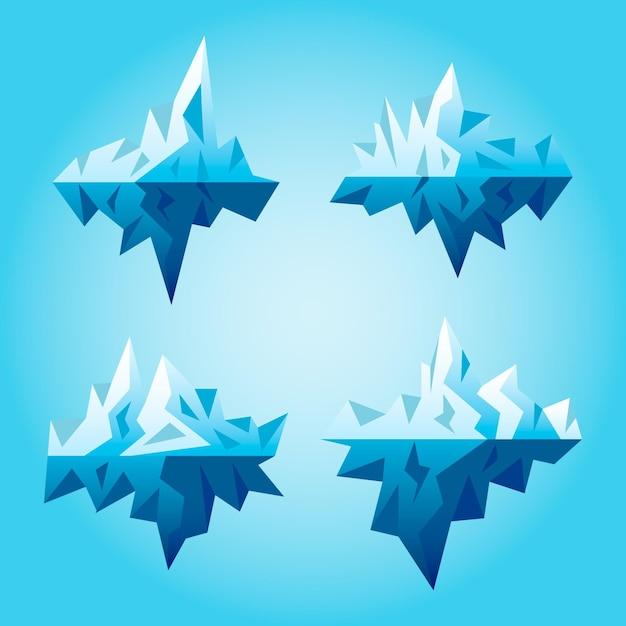 Stile di raccolta iceberg Vettore gratuito
