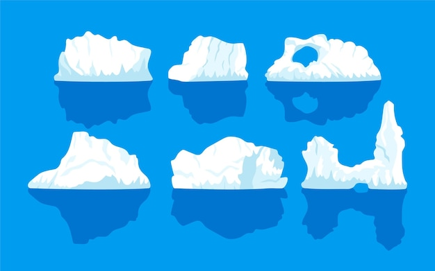 Iceberg collection Free Vector