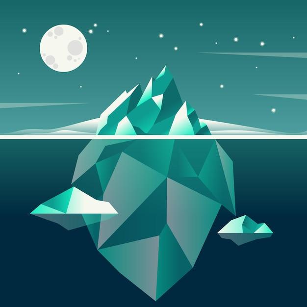 Iceberg concept illustration theme Free Vector