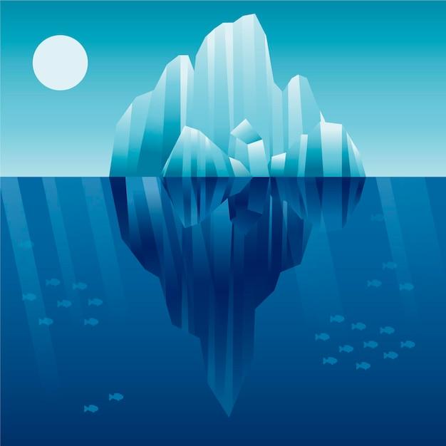 Концепция иллюстрации айсберга Бесплатные векторы