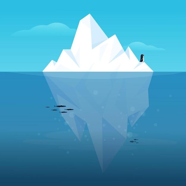 Iceberg illustration concept Free Vector
