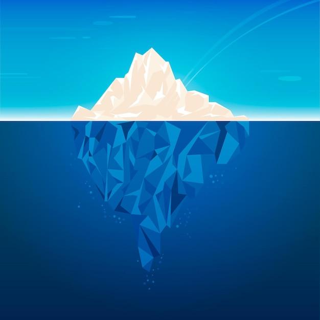 Дизайн иллюстрации айсберга Бесплатные векторы