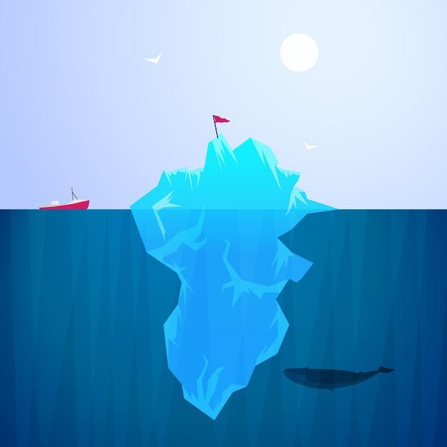 Iceberg illustration style Free Vector