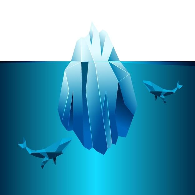 Stile di illustrazione dell'iceberg Vettore gratuito