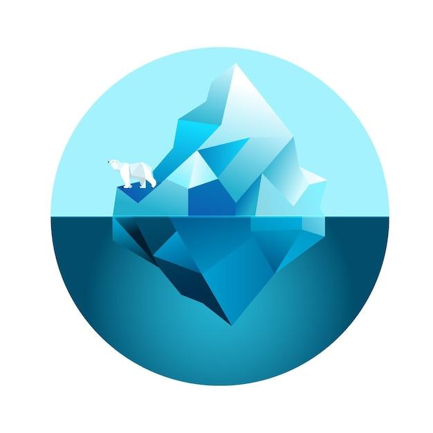 Тема иллюстрации айсберга Бесплатные векторы