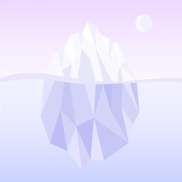 Иллюстрация айсберга Бесплатные векторы