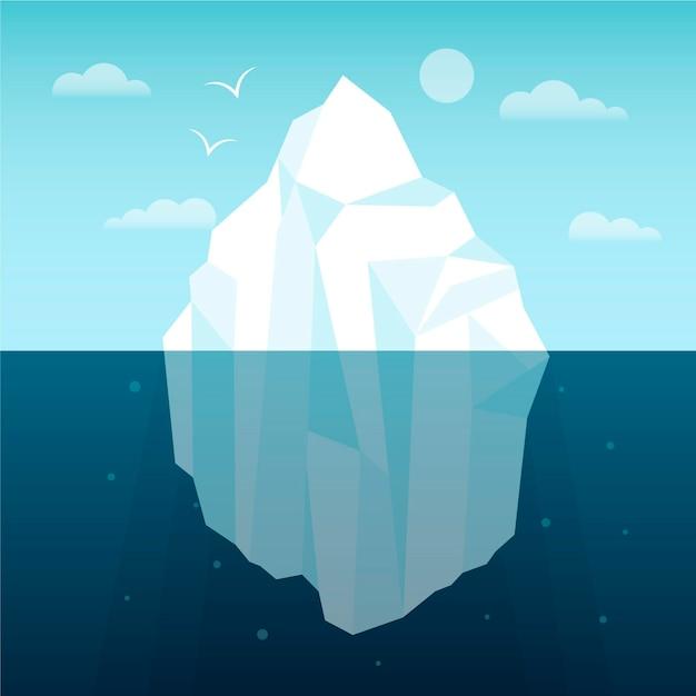 Illustrazione di iceberg Vettore gratuito