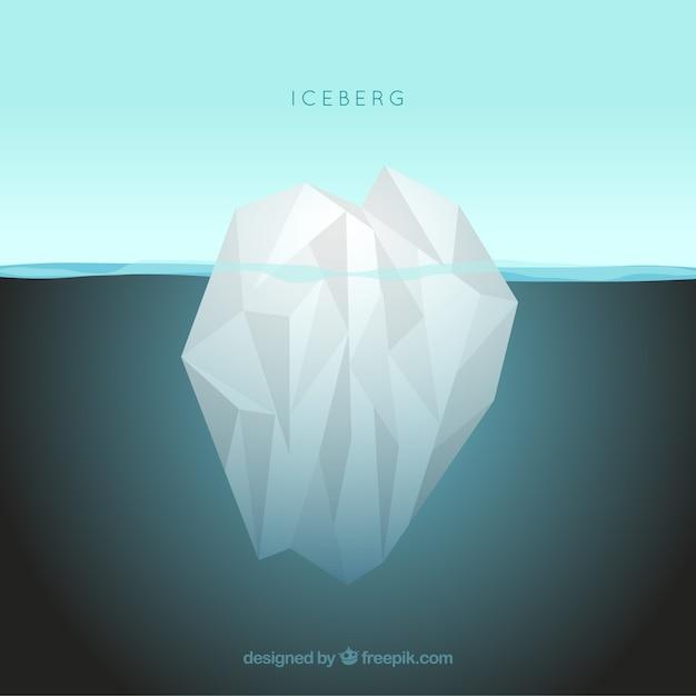 Iceberg in the ocean Free Vector
