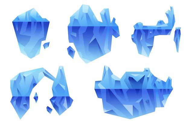 Концепция пакета айсберг Бесплатные векторы