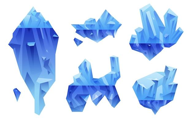 Дизайн пакета айсберг Бесплатные векторы