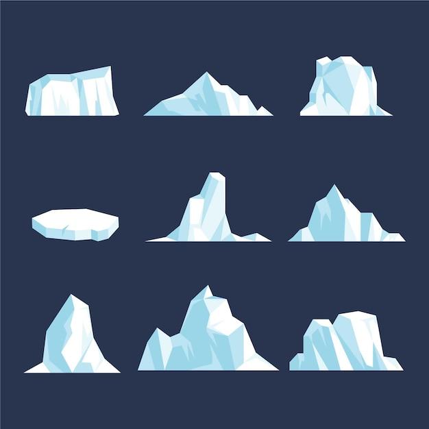 Concetto dell'illustrazione del pacchetto dell'iceberg Vettore gratuito