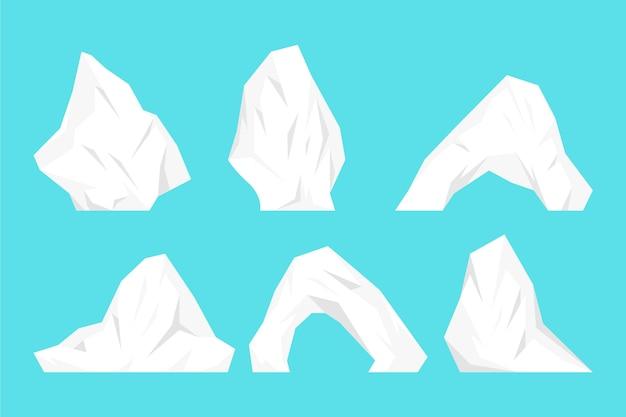 Confezione di iceberg Vettore gratuito