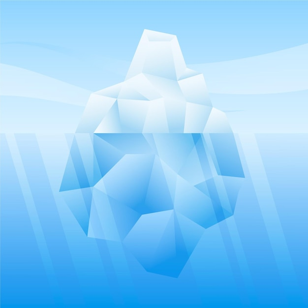 Iceberg nel concetto di mare Vettore gratuito