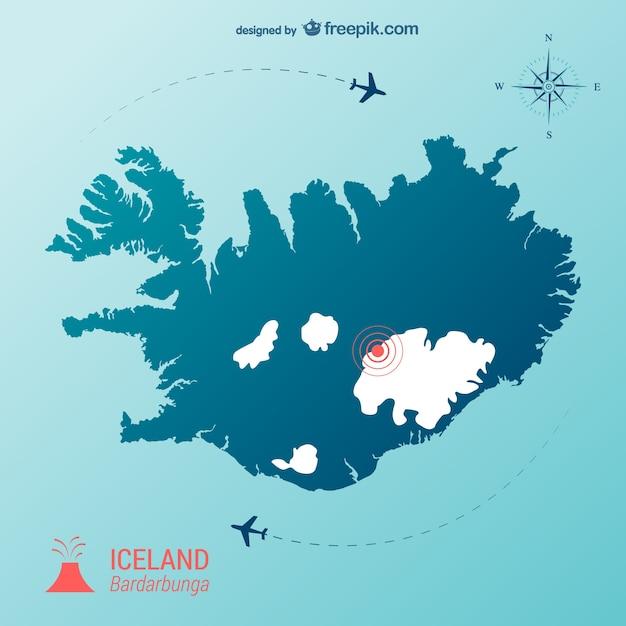 Icelandic volcano vector Free Vector