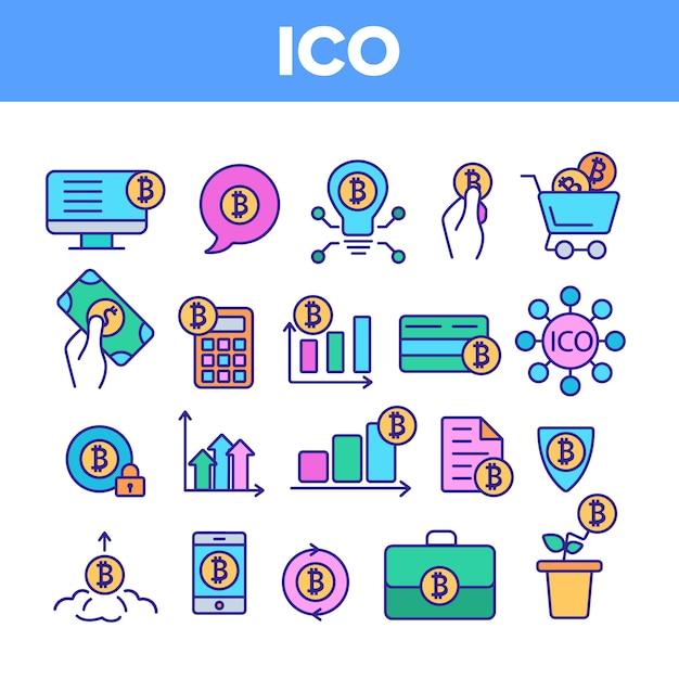 Ico、ビットコイン Premiumベクター