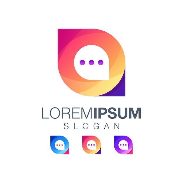 Icon chat logo Premium Vector