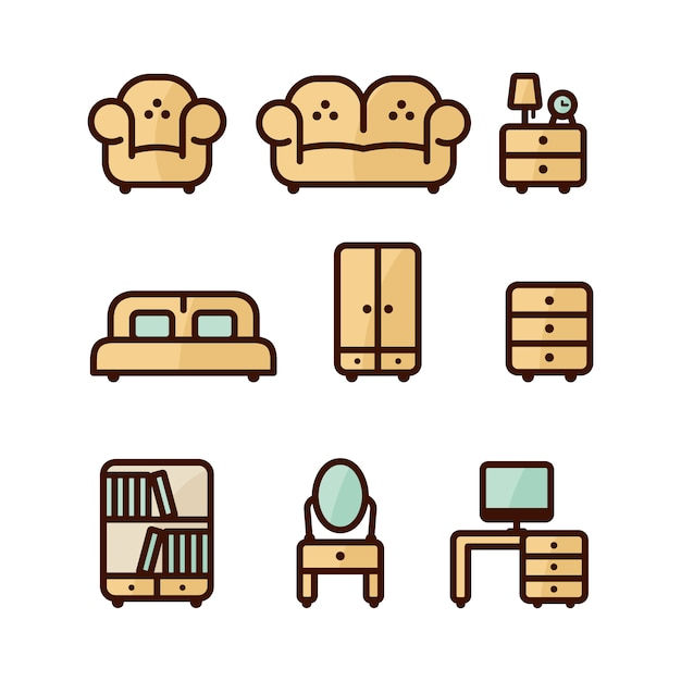 Icon collection Free Vector