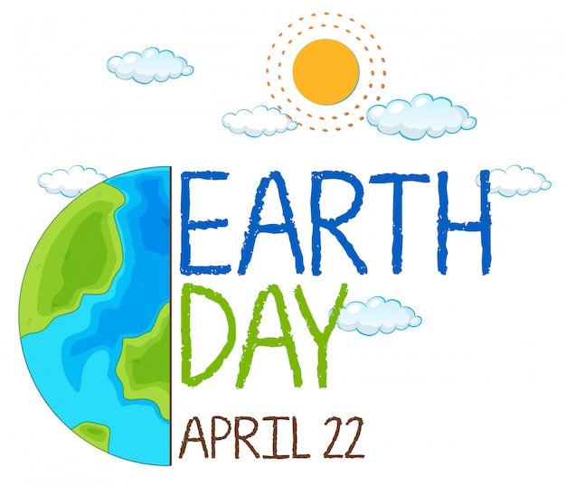 An icon of earth day Free Vector