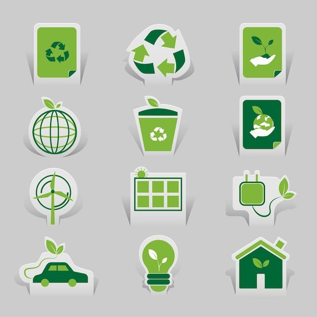 Icon environmental Premium Vector