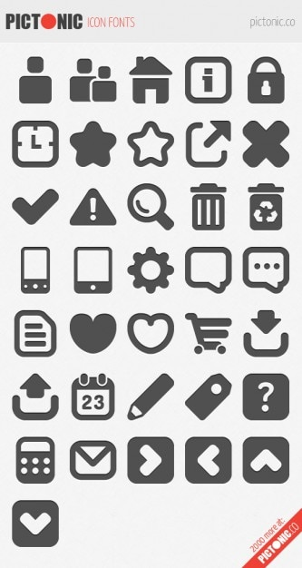 Download Icon font set Vector | Free Download