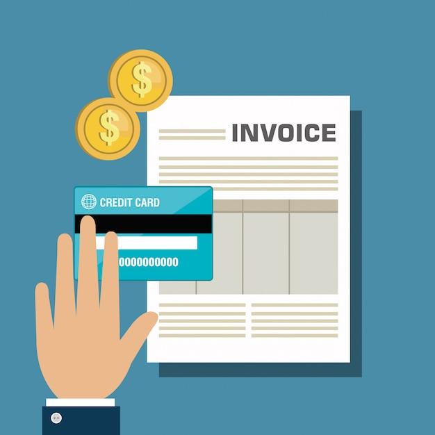 Icon invoice design Premium Vector