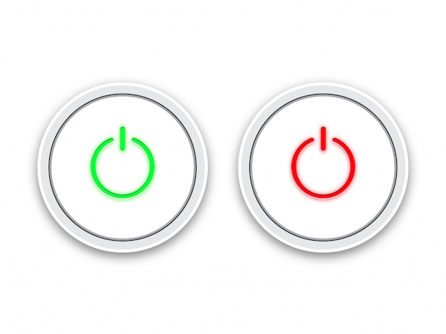 Icon on and off toggle switch button. Premium Vector
