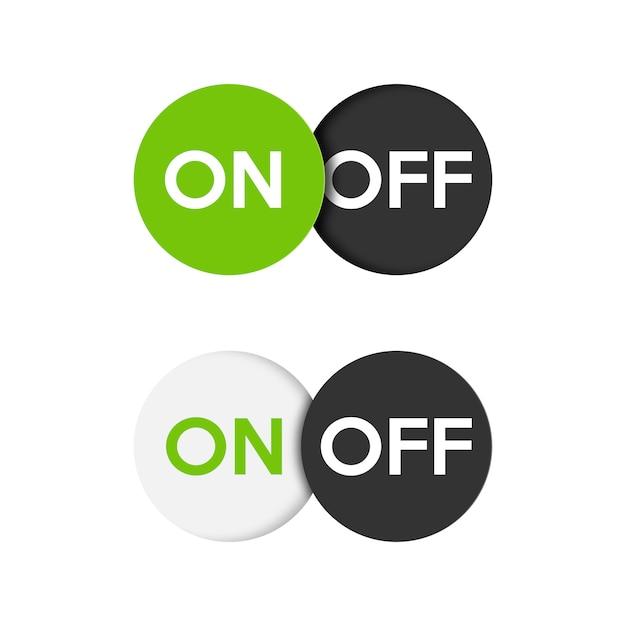 アイコンのオンとオフの切り替えスイッチボタン。 Premiumベクター