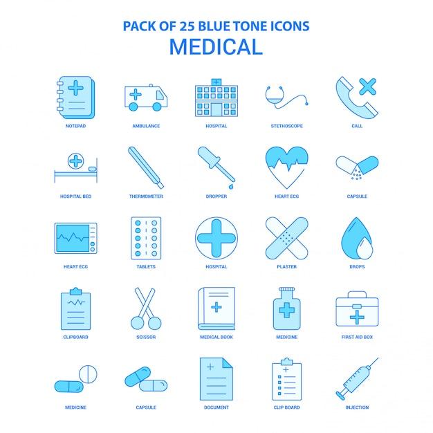 Медицинский синий значок icon pack Premium векторы