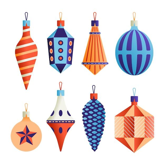 Набор иконок xmas, коллекция рождественских объектов, белый фон. Premium векторы