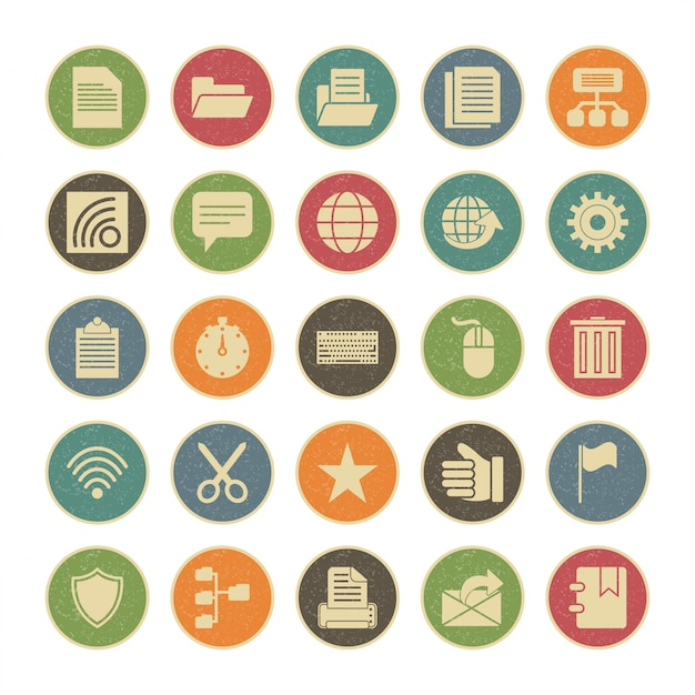 Icon set of web for personal and commercial use. Premium Vector