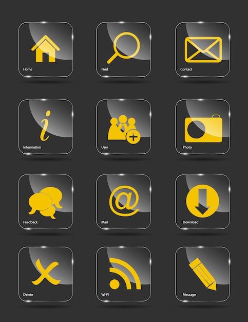 Icon set for web. Premium Vector