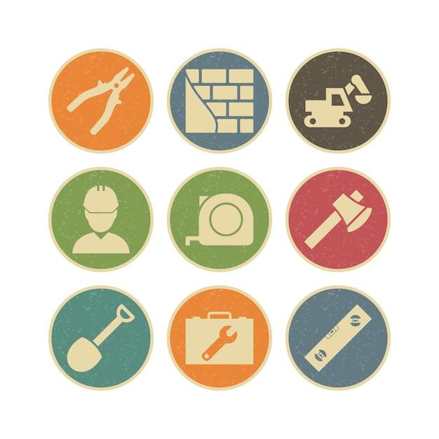 Icon set конструкции для личного и коммерческого использования Premium векторы