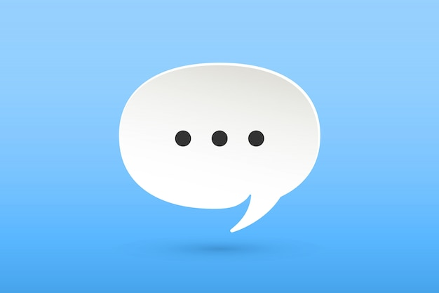 Icon of white paper cloud talk chat Premium Vector
