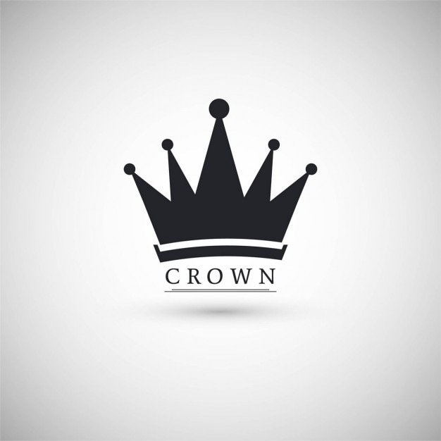 Icon with a crown Free Vector