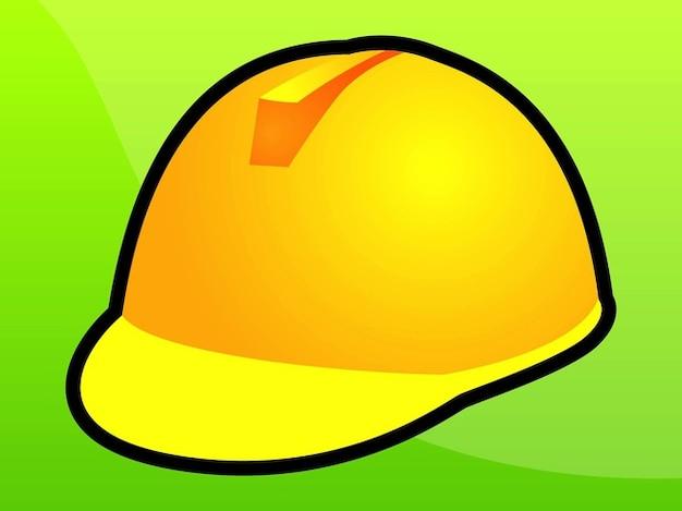 Icon yellow helmet Free Vector