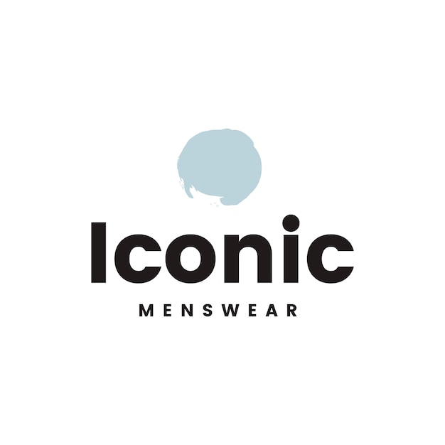 Iconic menswear logo design vector Free Vector