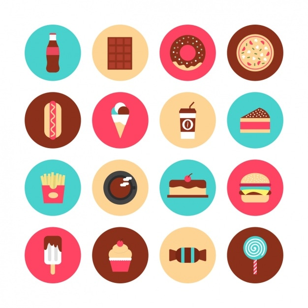Icons about food Free Vector
