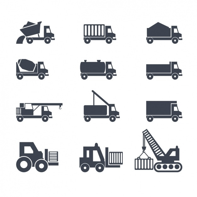 Icons about trucks Free Vector