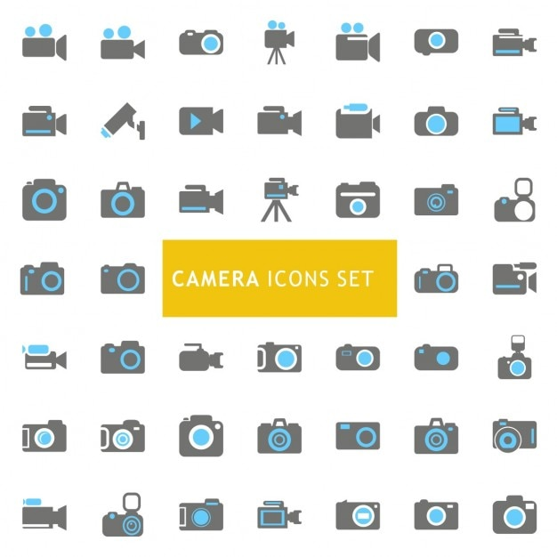 Icons set about cameras Free Vector