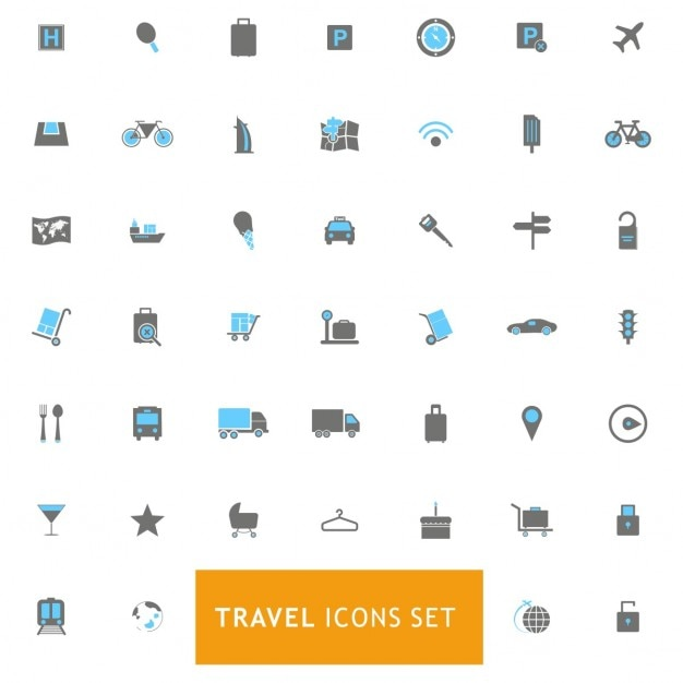 Icons set about travels Free Vector