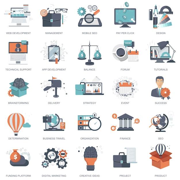 Icons for website development Premium Vector
