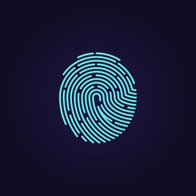 Id app fingerprint vector icon Premium Vector
