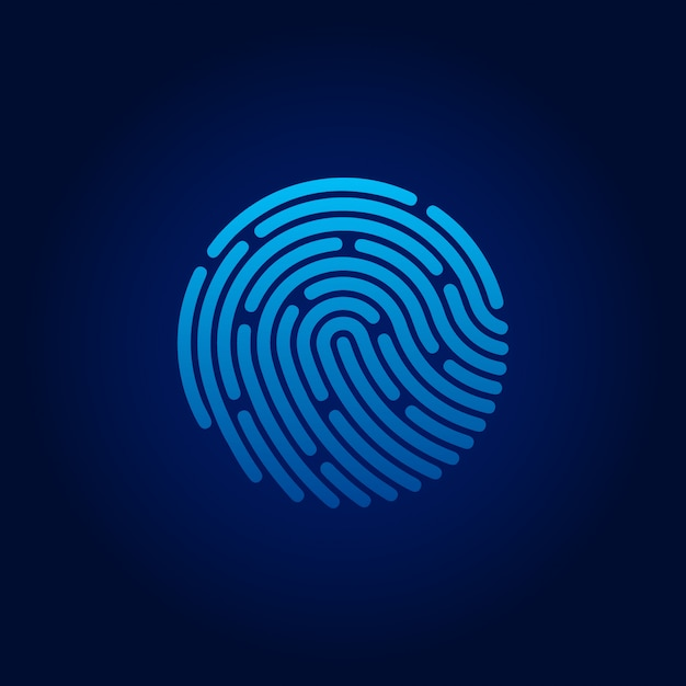 Id app icon. fingerprint. concept of personal data protection. vector stock illustration Premium Vector