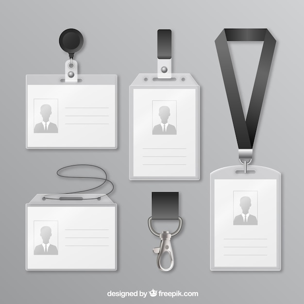 Id card collection Free Vector