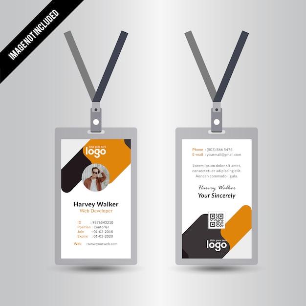 Id Card Design Template Vector   Premium Download