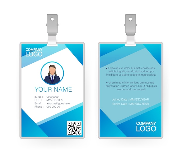 Id card, great  for any purposes.  .  .  template design. Premium Vector