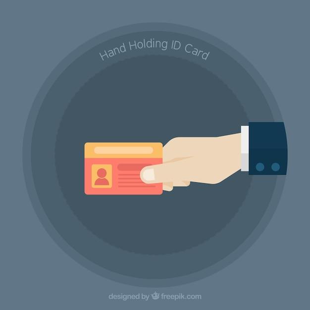 Id card illustration Free Vector